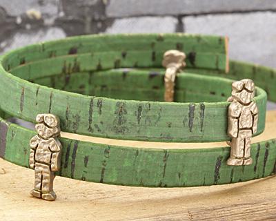 Patricia Healey Bronze Dad 10mm Flat Slide 9x22mm