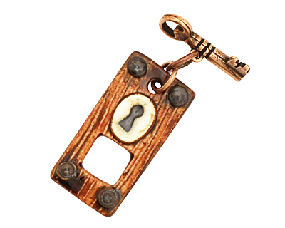 Earthenwood Studio Ceramic Wooden Door Toggle Clasp 36x18mm, 24mm bar