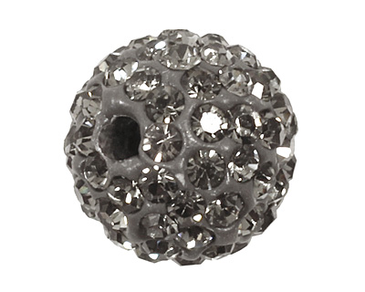 Black Diamond Pave Round 10mm (1.5mm hole)