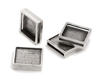 Greek Pewter Square 20mm Cord Slide 23mm