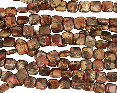 Red Creek Jasper w/ pyrite Puff Square 14mm