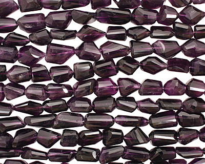 Amethyst Faceted Nugget 13-25x11-13mm