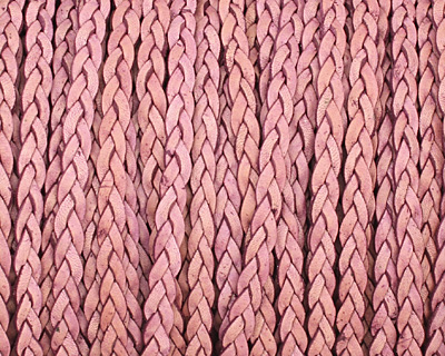 Natural Violet Flat Braided Leather Cord 5mm