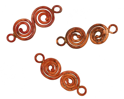 Patricia Healey Copper Double Spiral Link 35x11mm