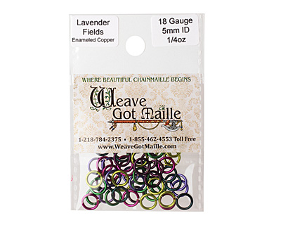 Lavender Fields Mix Enameled Copper Round Jump Ring 7mm, 18 gauge