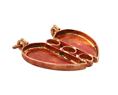 Patricia Healey Copper Big Heart Bezel Pendant 55x59mm