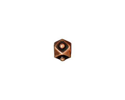 TierraCast Antique Copper (plated) Faceted Cube 6x8mm