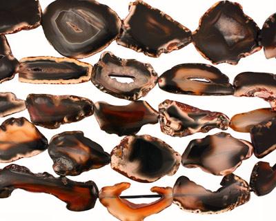 Black Agate Slab 47-68x22-48mm