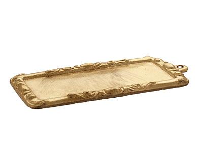 Brass Scrolled Frame 20x44mm