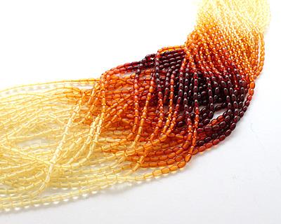 Resin Amber Rice 6x4mm