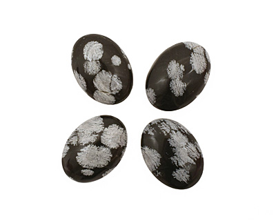 Snowflake Obsidian Oval Cabochon 18x25mm