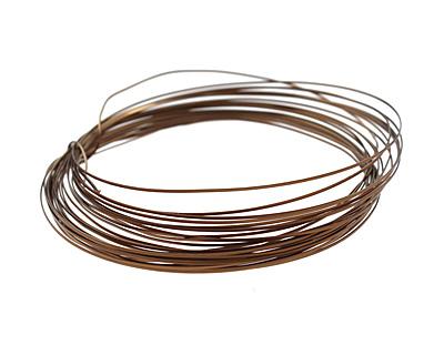 Soft Flex Vintage Bronze Half Round Craft Wire 21 gauge, 7 yards