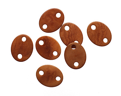 Tagua Nut Caramel Oval Link 24x19mm