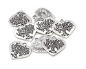 Pewter Heart Tree of Life Pendant 23mm