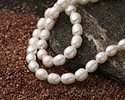 Pearly White Freshwater Rice Pearl 8-9mm