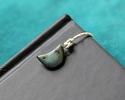 Gaea Ceramic Cool Patina on Chocolate Small Moon Charm 9-11x17-20mm