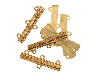 Brass Dotted Bar 1-3 Link 29x9mm