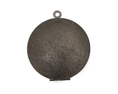 Gunmetal Round Maiden Heirloom Locket 30x35mm