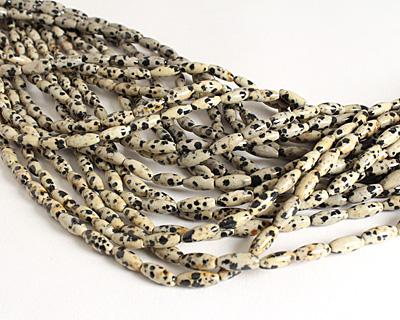 Dalmatian Jasper Rice 12x5mm