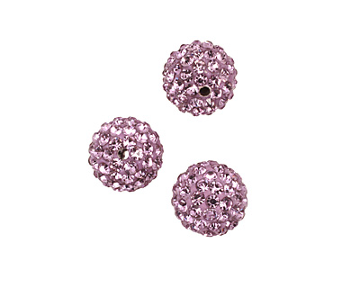 Lilac Pave Round 10mm