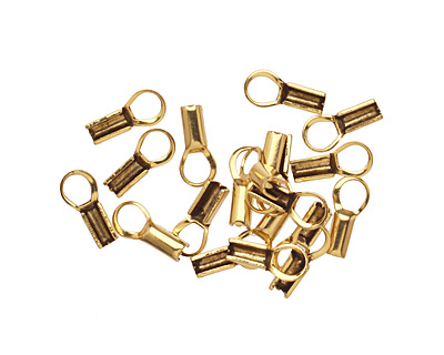 Antique Gold (plated) Foldover Cord End 12x6mm