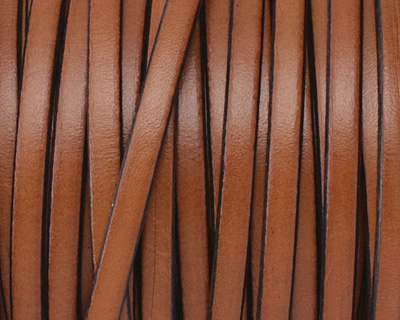 Tan Flat Leather Cord 5mm