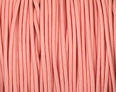 Light Pink Round Leather Cord 1.5mm