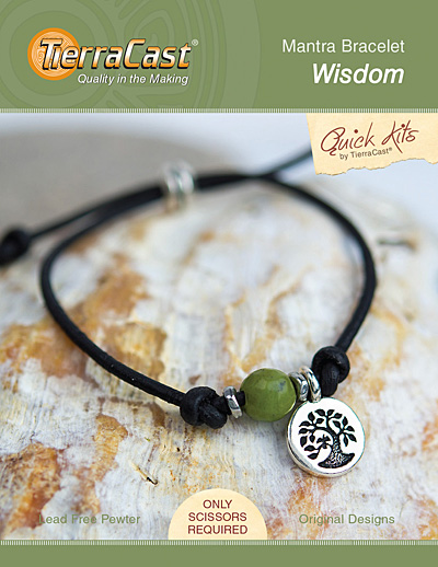 TierraCast Wisdom Mantra Bracelet Kit