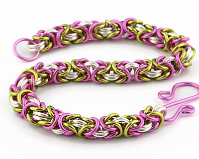 Weave Got Maille Peony Byzantine Bracelet Kit