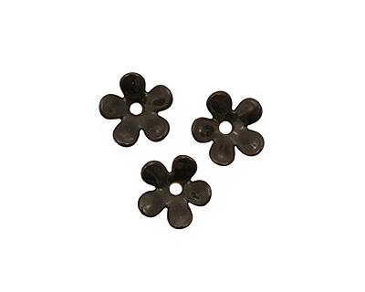 C-Koop Enameled Metal Black 5 Petal 15mm