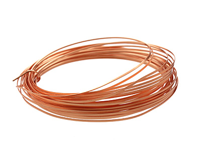Soft Flex Non-Tarnish Copper Half Round Craft Wire 18 gauge, 7 yards