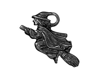 TierraCast Gunmetal Witch Charm 23x14mm