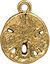 TierraCast Antique Gold (plated) Sand Dollar Charm 16x21mm