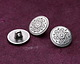 Antique Silver (plated) Scrolling Daisy Button 15mm