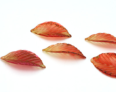 Vintage Meadow Acrylic Hibiscus Birch Leaf 19x36mm