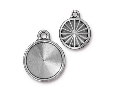 TierraCast Antique Pewter (plated) Faceted Drop 17x21mm