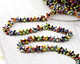 Multi Color Seed Beads on Brass Chain