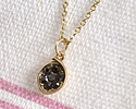 Gunmetal Pave CZ Matte Gold Finish Small Cupped Leaf Charm 7x11mm