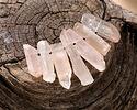 Natural Orange Crystal Quartz Faceted Point Pendant Set 5-9x18-33mm