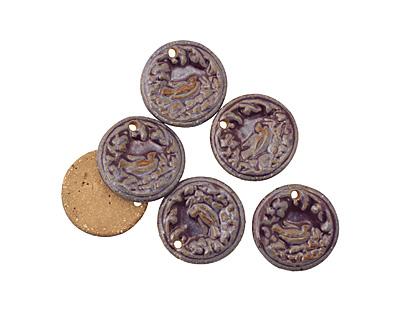 Kylie Parry Ceramic Purple Nesting Pendant 30mm