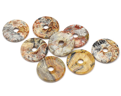 Crazy Lace Agate Donut 50mm