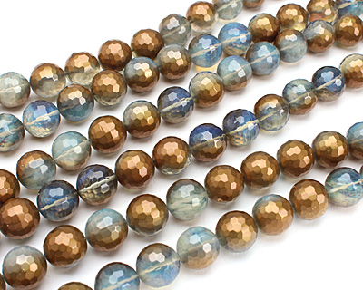 Luster Bronze Opalite Faceted Round 15-16mm
