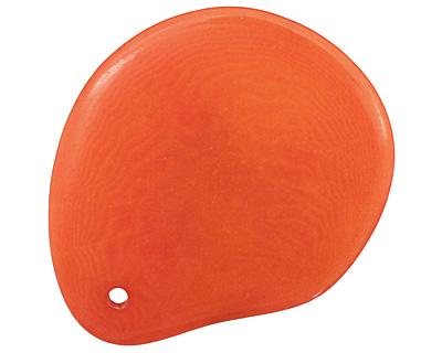 Tagua Nut Orange Groovy Slice 25-35x30-42mm