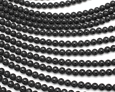 Black Onyx (matte w/ polished stripe) Round 8mm