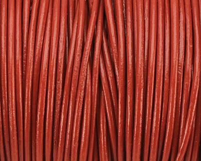 Brick Round Leather Cord 1.5mm
