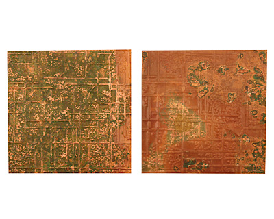 Lillypilly Verde Bamboo Embossed Patina Copper Sheet 3