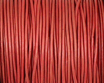 Russet (metallic) Round Leather Cord 1.5mm