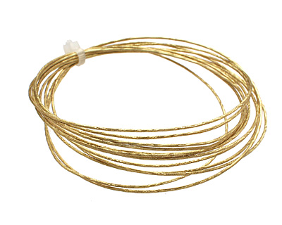 German Style Wire Non Tarnish Brass Twist Pattern 20 gauge, 2 meters