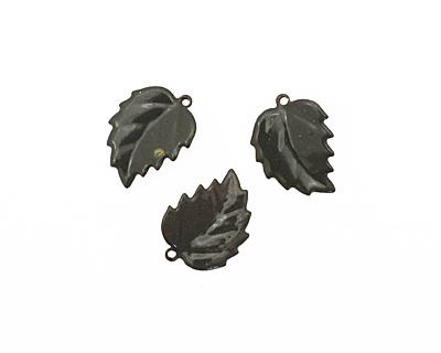 C-Koop Enameled Metal Steel Gray Leaf 15x20mm