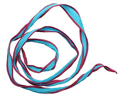 It's Blue-tiful! Hand Dyed 100% Silk Ribbon 1/2